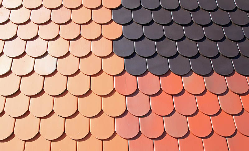 Structure Brick Home Roofing Pattern Tile